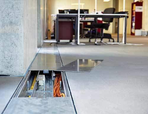 impianti canali sottopavimento