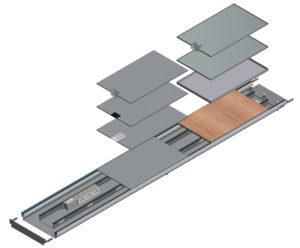 disegno tecnico impianto elettrico canali a pavimento woertz bok8880 in 400