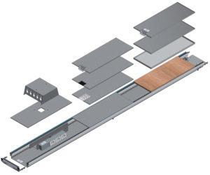 disegno tecnico impianto elettrico woertz canali a pavimento woertz bok8880 in 200