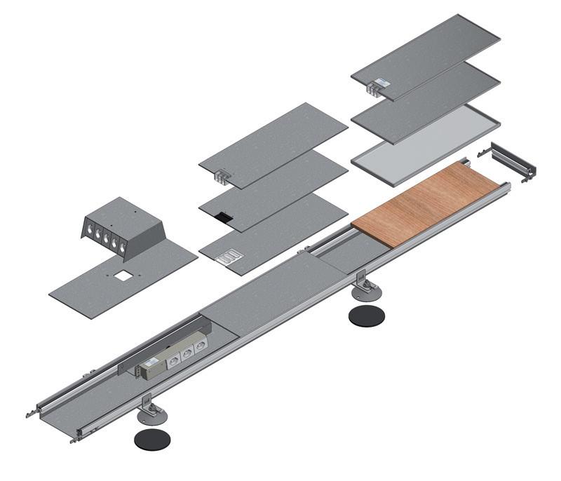 scatola di derivazione sistema a filopavimento woertz