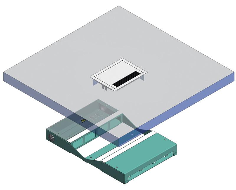 schema tecnico pavimento flottante
