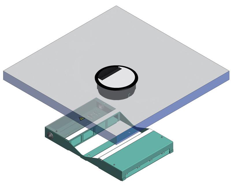 disegno tecnico canali a doppio pavimento