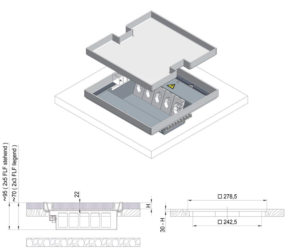 doppio pavimento disegno tecnico