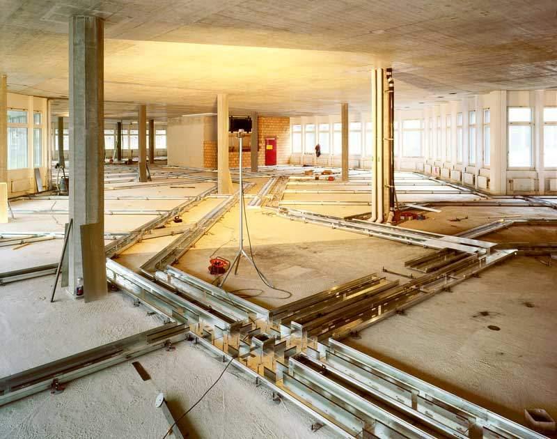 impianto a filopavimento woertz in costruzione