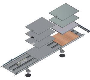 disegno tecnico impianto elettrico woertz canali a pavimento woertz bok8880 in 400