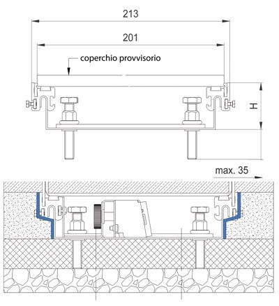schema tecnico impianto elettrico canali a pavimento woertz bok8880 in 200