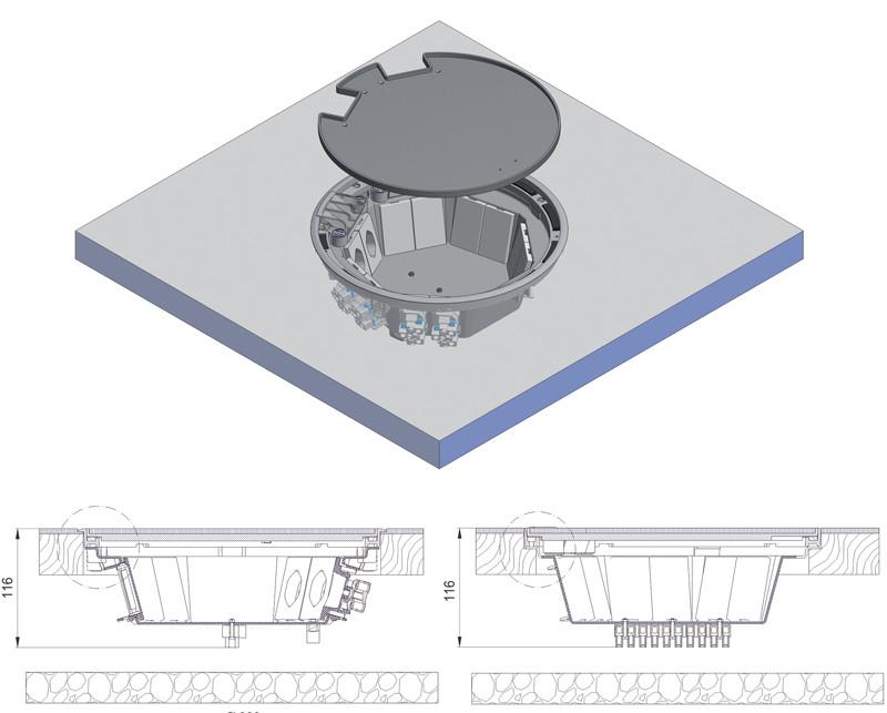 schema tecnico impianto sotto pavimento woertz