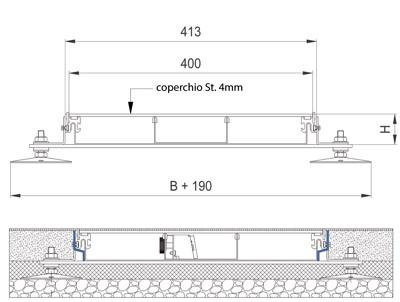 schema tecnico impianto elettrico woertz canali a pavimento woertz bok8880 in 400
