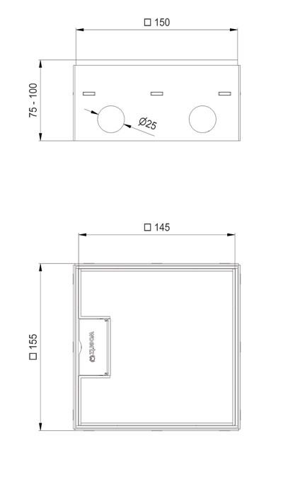 schema scatola di derivazione wak 150