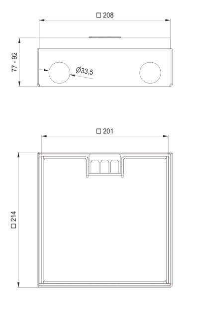 schema tecnico scatola di derivazione