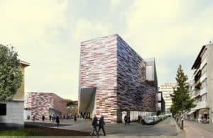 m9 mestre museo arte contemporanea con torrette a pavimento woertz